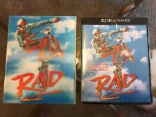 *RAD* Blu-ray Vinegar Syndrome w/ slipcover 4K *BRAND NEW* ships in box/Priority