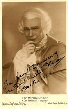 CARL MARTIN OHMAN opera tenor signed photo as Des Grieux