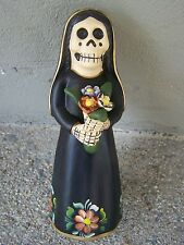 Day of the Dead Clay Skeleton Bride - BLACK - Peru