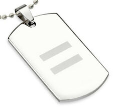 Pride Shack - Equality Laser Etched Steel Dog Tag Pendant Gay & Lesbian Necklace