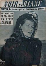 RITA HAYWORTH en COUVERTURE de NOIR et BLANC N° 572 DE 1956