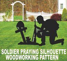 FALLEN SOLDIER PRAYING SILHOUETTE  WOODWORKING  PATTERN, plan, ( patternsrus)