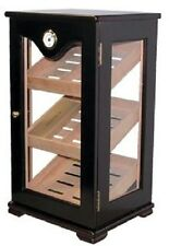 Cigar Humidor Retail Mahogany Vertical Standing Display Case Holds 75 Cigars