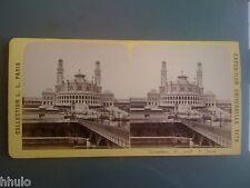 Stc311 1878 universal exposition trocadero bridge stereoview albumen photo iena