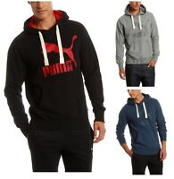 New Men's PUMA Heritage Logo Hoodie Sweatshirt Jumper Black Blue Grey Hooded Top