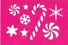 Stencil Christmas Candy Cane Snowflakes Winter Stars