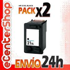 2 Cartuchos Tinta Negra / Negro HP 21XL Reman HP Deskjet F370 24H