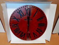 """Big Ben Westclox 12"""" Solid Wood Wall Clock Quartz Analog Roman Numerals NIB 78V"""