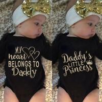 USA Newborn Baby Girl Infant Bodysuit Romper Jumpsuit Playsuit Sunsuit Clothes