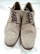 Mens Stacy Adams Dress Casual Shoes  Wing Tip Leather Suede tan