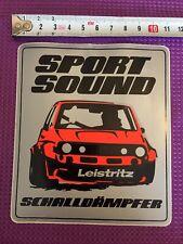 Aufkleber Leistritz Schalldämpfer Sport Sound VW Golf 1 Tuning Autocollant