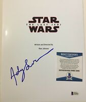 Andy Serkis Signed Autographed STAR WARS THE LAST JEDI Script Cover BECKETT BAS