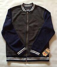 NWT Urban Pipeline LS Knit Varsity Men's Jacket Sz L Navy Blue