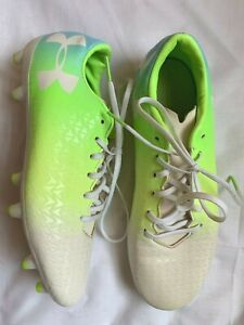 Girls Brightly Multi Colored Under Armour Soccer Cleats Size 8