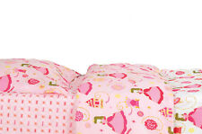 PINK PRINCES  DUVET COMFORTER SET  2 PIECES  100% COTTON TWIN NEW
