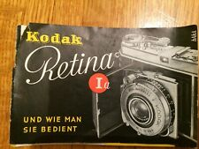 Kodak Retina 1A Manual in German