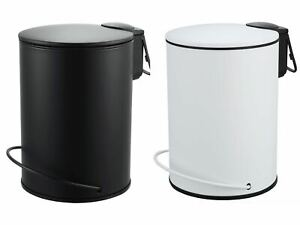 3L Soft Closing Pedal Step Bin Small Waste Trash Can Container Au Stock