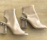 Women's Sole Society Clear Block Heels Size 7