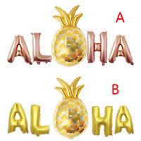 Aloha feuille d'or ballons Hawaii fête bannière plage tropicale décor de f IY