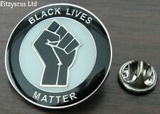 Black Lives Matter Lapel Pin Badge Raised Clenched Fist BLM solidarity