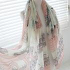 Fashion Womens Long Neck Scarf Pashmina Silk Scarves Wrap Soft Voile Stole Shawl
