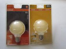 Bombilla Osram Decor Globo G80 E27 60w Ámbar Ice Oro Lámpara de globo Ø 80mm