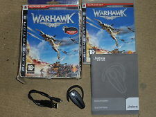 WARHAWK ONLINE GAME + WIRELESS BLUETOOTH HEADSET MICROPHONE - PLAYSTATION 3 PS3