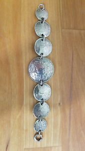 Vintage WWII Coin Silver Bracelet (multiple countries)