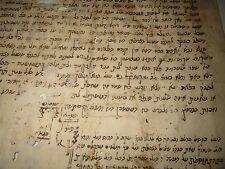 HEBREW MANUSCRIPT Dated 1852  interesting Jewish Documents Judaica Morocco