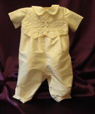 Handmade `LOGAN` 100% Silk Dupion Christening Romper Suit