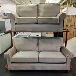 Laura Ashley Abingdon 2 Piece Sofa Suite In Bentham Sable Fabric RRP £2999