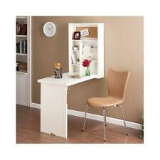 Murphy Desk Wall Mounted Floating White Fold Out Table Home Office Workstation