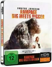 """RAMPAGE - BIG MEETS BIGGER"" - Dwayne Johnson - 4K ULTRA HD BLU RAY STEELBOOK"