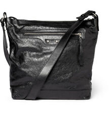 BALENCIAGA Arena Leather Classic Day Messenger Bag in Black