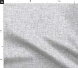 Plain Gray and White Heathered Faux Texture Solid Spoonflower Fabric by the Yard