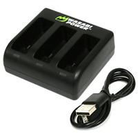 Gopro Hero 7 6 5 Black Camera Triple Battery Charger AADBD-001 AABAT-001 USB