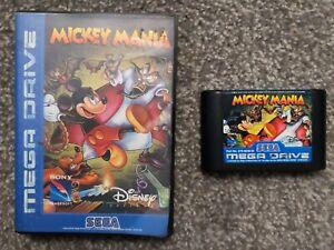 Sega Mega Drive Game Mickey Mania with Original Case