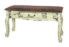 Bank Jenny, vintage, Sitzbank, 80x30 cm, Massivholz, Kunstleder