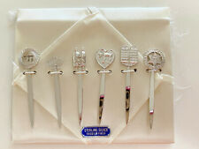 Sterling Silver Cocktail Picks for cheese or fruit Dinner Party Forks Set of 4