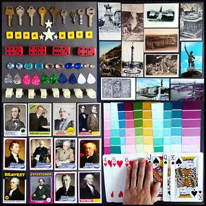 Keys, Stars, Games, Picks, History Cards, Foreign Postcards, Paints, Giant Poker