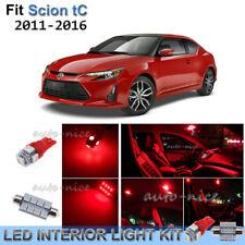 For 2011-2016 Scion tC Brilliant Red Interior LED Lights Kit 8 Pieces