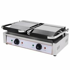 More details for twin contact grill, ribbed , panini press, twin plug, new
