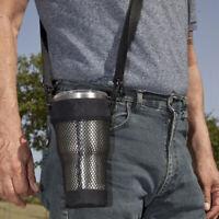 Black Water Bottle Holder Carrier Sleeve Pouch Shoulder Strap Insulated Bag New