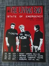 THE LIVING END - 2006 AUSTRALIA TOUR - LAMINATED PROMO TOUR POSTER