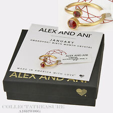 Authentic Alex and Ani January 14kt GP Birth Month Ring