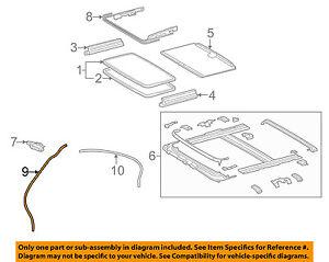 63220-30080 Toyota Hose assy, sliding roof drain, rh 6322030080, New Genuine OEM