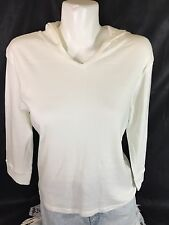 Hanes Women White Sweater Long Sleeve Size XL 100%cotton Bin54#2