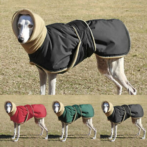 Waterproof Medium Large Dog Overall Clothes Warm Flannel Hoodie Coat Jacket XL