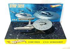 Hot Wheels STAR TREK - U.S.S. VENGEANCE 1:64 Diecast Model & Custom Display Base