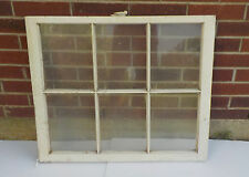 "ANTIQUE WOODEN 6 PANE OLD WINDOW SASH OLD WITH GLASS 30 3/4"" x 26 7/8"""